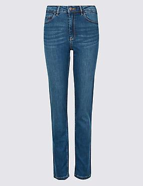 Sculpt & Lift Straight Leg Jeans, MEDIUM INDIGO, catlanding