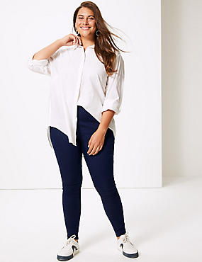CURVE High Rise Jeggings, DARK INDIGO, catlanding