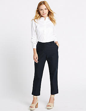 PETITE Cotton Rich Chino Slim Leg Trousers
