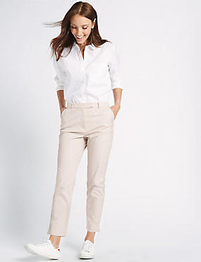 Cotton Rich Chino Straight Leg Trousers