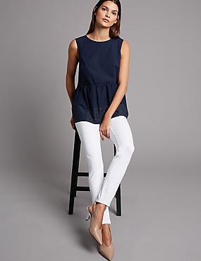 360 Contour Skinny High Waist Jeans, SOFT WHITE, catlanding