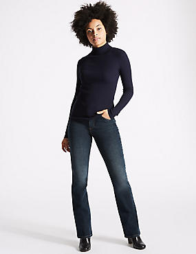 Mid Rise Slim Bootcut Jeans