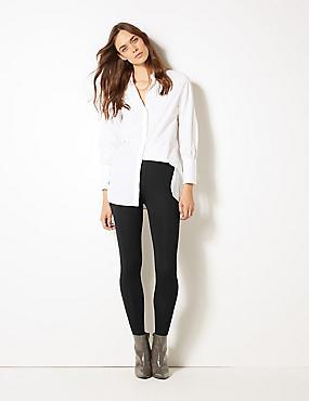 Embellished Side Stripe Leggings, BLACK, catlanding