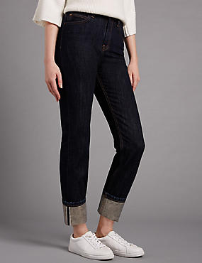 Pure Cotton Selvedge Girlfriend Jeans