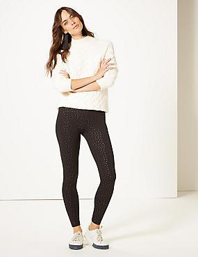 Cotton Rich Skinny Leg Trousers, BLACK, catlanding