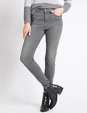 Skinny Jeans with Zip Detail