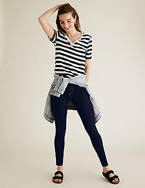 PETITE Cotton Rich Jeggings, INDIGO, catlanding