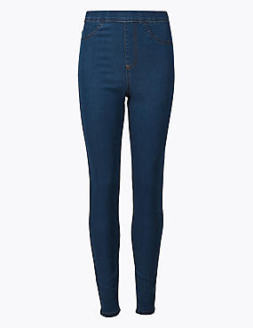 Cotton Rich Jeggings, MEDIUM BLUE, catlanding