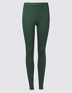 Cotton Rich Jeggings, BOTTLE GREEN, catlanding