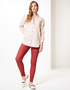 Cotton Rich Jeggings, BERRY RED, catlanding