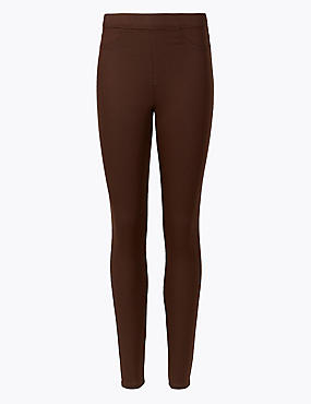 Cotton Rich Jeggings, CHOCOLATE, catlanding