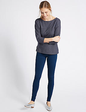 Cotton Rich Jeggings, BRIGHT INDIGO, catlanding