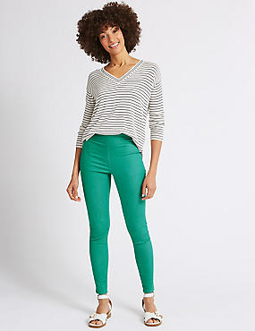 Cotton Rich Jeggings, JADE, catlanding