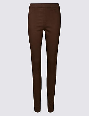 Cotton Rich Jeggings, CHOCOLATE MIX, catlanding