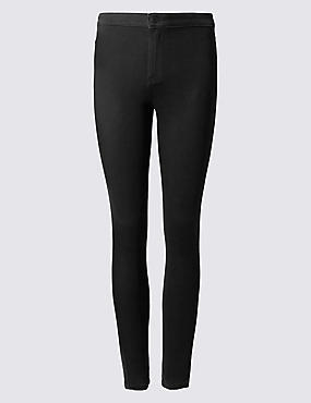 PLUS Cotton Rich High Waisted Jeggings
