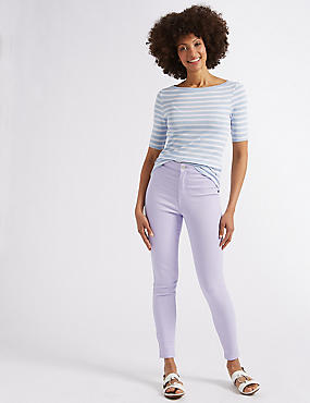 High Waist Super Skinny Jeans, LILAC, catlanding