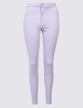 High Waist Super Skinny Jeans, LILAC, catlanding