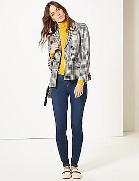 High Waist Super Skinny Jeans, DARK INDIGO, catlanding