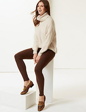 High Waist Super Skinny Jeans, CHOCOLATE, catlanding