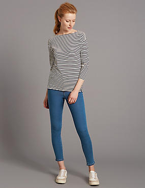 High Rise Skinny Leg Cropped Jeans