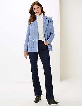 Ozone Mid Rise Slim Bootcut Jeans, INDIGO MIX, catlanding
