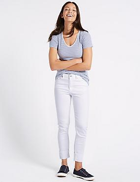 Mid Rise Relaxed Slim Jeans, SOFT WHITE, catlanding