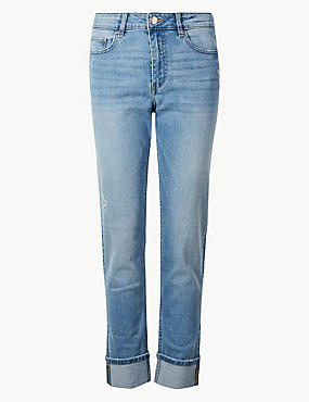 Cotton Rich Relaxed Slim Leg Jeans, LIGHT INDIGO, catlanding
