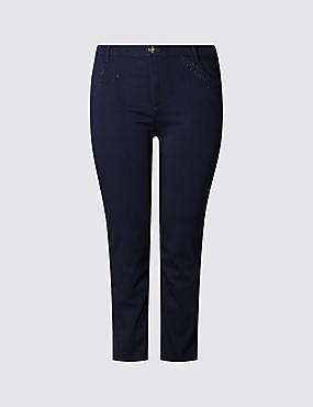 PLUS Bling Mid Rise Straight Leg Jeans