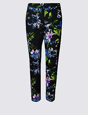 Cotton Rich Floral 7/8 Trousers