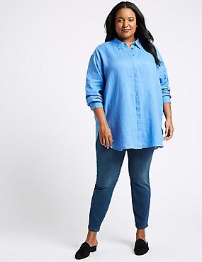CURVE 360 Contour High Waist Skinny Jeans, MEDIUM BLUE, catlanding