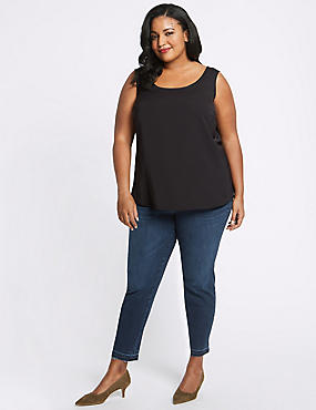 womens plus size tops & t shirts | plus size tunic tops | m&s