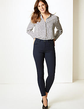 Mid Rise Super Skinny Jeans, INDIGO, catlanding