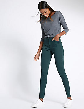 Cotton Rich Skinny Leg Trousers