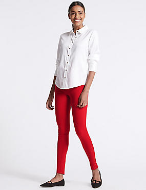 Mid Rise Super Skinny Jeans, RED MIX, catlanding