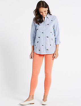 Mid Rise Super Skinny Jeans, ORANGE FIZZ, catlanding