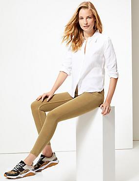 Mid Rise Super Skinny Jeans, CAMEL, catlanding