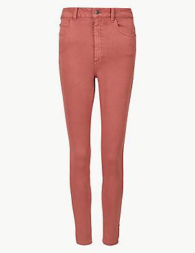 Mid Rise Super Skinny Jeans, TERRACOTTA, catlanding