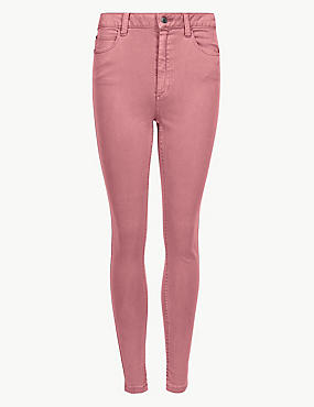 Mid Rise Super Skinny Jeans, ROSEWOOD, catlanding