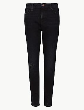 Mid Rise Super Skinny Leg Jeans, DARK BLUE, catlanding