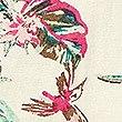 Linen Rich Floral Print Pencil Skirt , IVORY MIX, swatch