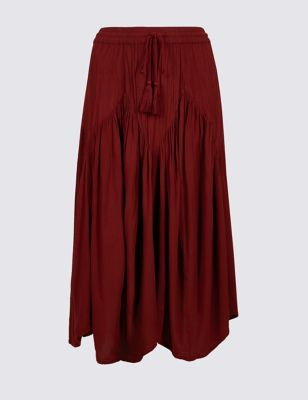 Flared Full Midi Skirt by Marks & Spencer