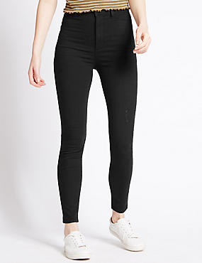 Ripped Super Stretch Skinny Jeans