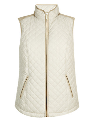Quilted Metallic Print Gilet with Stormwear™ Clothing