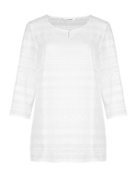 Pure Cotton Broderie Tunic