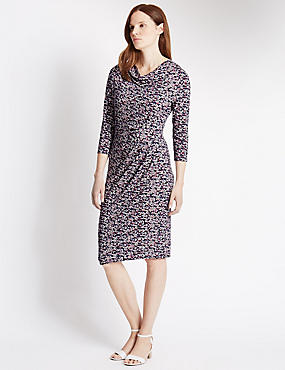 Tailored Fit Spotted Shift Dress