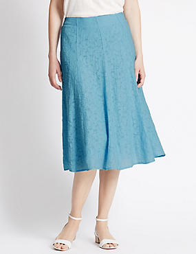 Burnout A-Line Skirt