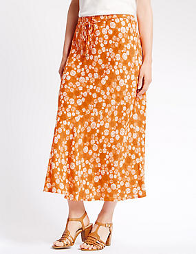Santa Fe Spotted Tailored Fit A-Line Skirt