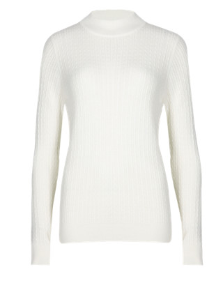 Turtle Neck Cable Knit Jumper Clothing