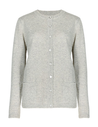 Button-Through Cardigan with Wool Clothing