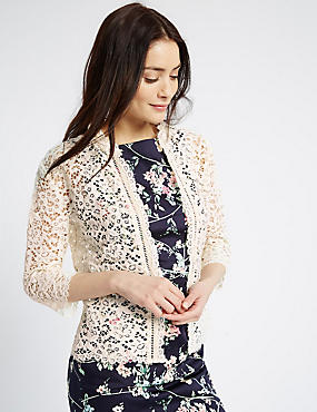 Cotton Rich All Over Lace Jacket